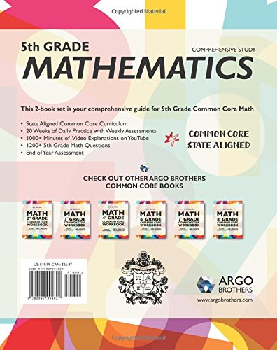 Counting Number worksheets future going to worksheets : Argo Brothers Math Workbook, Grade 5: Common Core Multiple Choice ...
