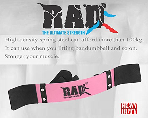 RAD Arm Blaster Body Building Bomber Bicep Curl Triceps Muscle Builder Pink New