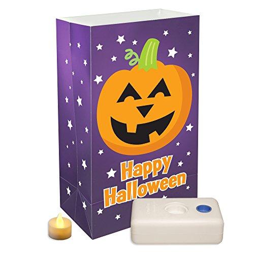 JH Specialties LumaBase 82436 12 Count Pumpkin Battery Op...