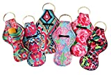 The Original Chapstick Holder Keychain, New Cute Design Neoprene Lip Balm Keychain Holder (Multicolor 6 Pack): more info