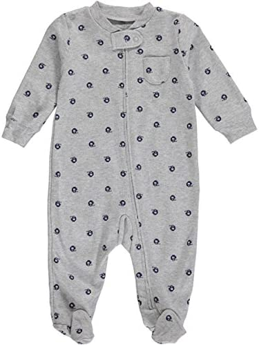 Carters Baby Boys Cotton Sleep and Play 6 Months, Grey