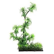 uxcell® 1 PC Aquarium Artificial Beach Coconut Tree Decor for Betta Fish Tank 15x5x29cm