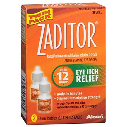 Zaditor Antihistamine Eye Drops Twin Pack 0.34 oz (Pack of 2)