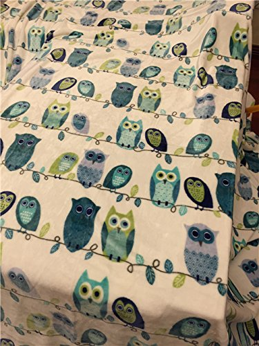 Brandream Owl Pattern Blanket Coral Fleece Blanket Kids Adults Snuggie Full Size Bed Blankets
