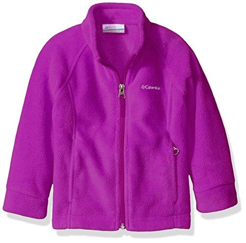 Columbia Little Girls' Toddler Benton Springs Fleece Jacket, Bright Plum, 4T
