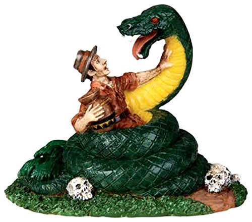 Lemax 02771 SNAKE IN THE GRASS Spooky Town Figurine Village Halloween Figure O G Scale Retired