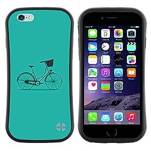 "Hypernova Slim Fit Dual Barniz Protector Caso Case Funda Para Apple (5.5 inches!!!) iPhone 6 Plus / 6S Plus ( 5.5 ) [Bicicleta del vintage minimalista Hipster""]"