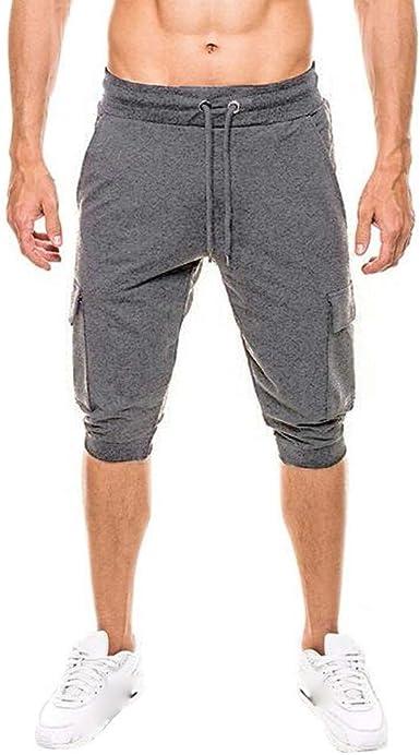 MVPKK Pantalones Cortos de Algodón Hombre Pantalones Cortos ...