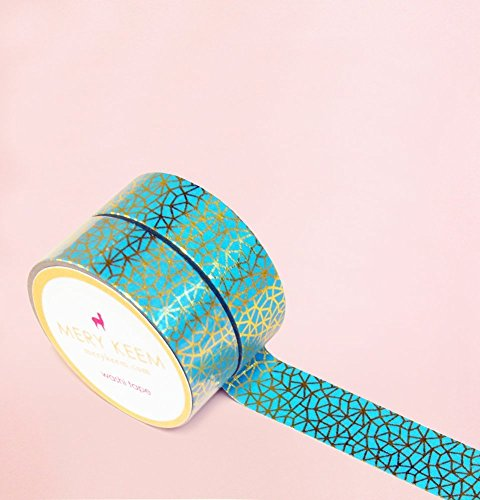 Emerald in Gold Foil Washi Tape for Planning • Scrapbooking • Arts Crafts • Office • Party Supplies • Gift Wrapping • Colorful Decorative • Masking Tapes • DIY from MERYKEEM