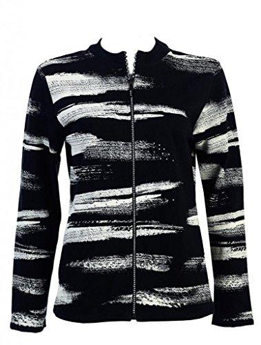Rhinestone Zipper Jacket - 5