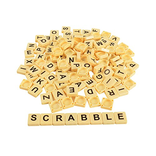BOHS Alphabet Letters Scrabble Tiles Crossword Word Grid Anagram Game/144 Pieces