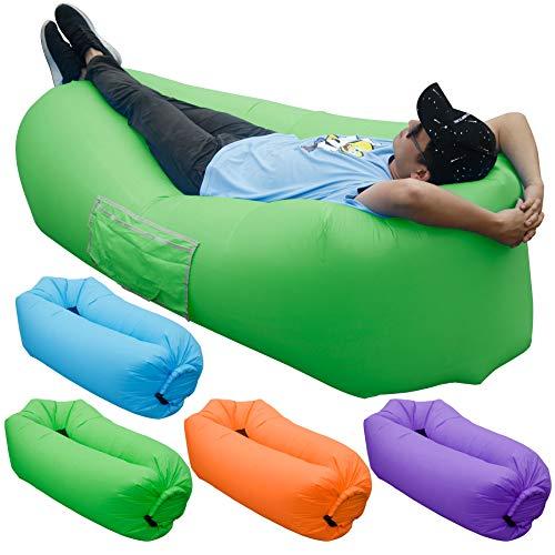 Portable inflatable lounge sofa