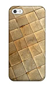Flexible Tpu Back Case Cover For Iphone 5/5s - Wood Art