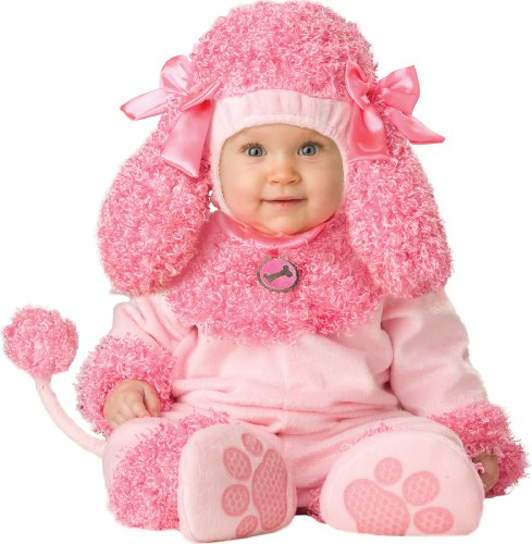 [InCharacter Unisex-baby Infant Poodle Costume, Pink, Medium] (Biker Kid Costume)