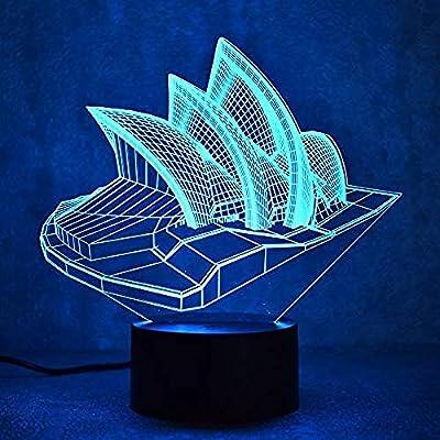 Lámpara Led Novedad 3D Lámpara De Mesa Led Visual Sydney Luminaria ...
