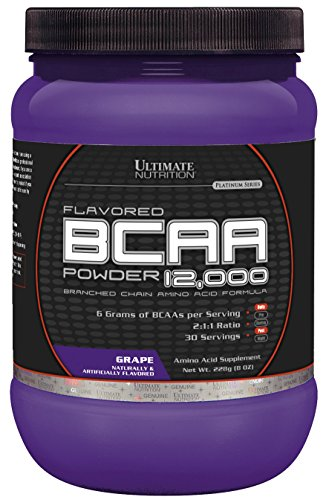 Ultimate Nutrition Flavored BCAA 12,000 - BEST TASTING BCAA, EVER! (Grape, 228g)