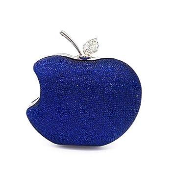 Las mujeres de lujo mini embrague de cristal de negocios forma de manzana bolso de noche ...