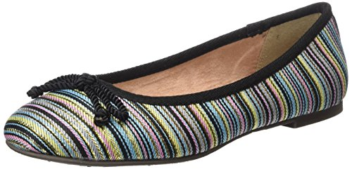 22142 Flats Women's black Ballet Multicolor Comb Tamaris vw1Hdv