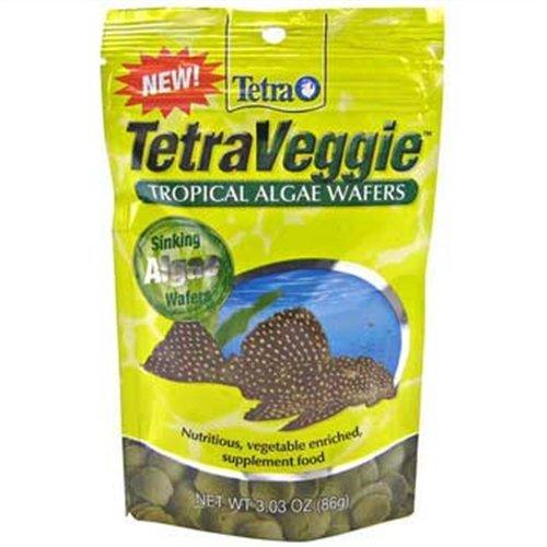 Tetra 77016 TetraVeggie Algae Wafers, Pouch Bag, 3.03-Ounce, 86-Gram, My Pet Supplies