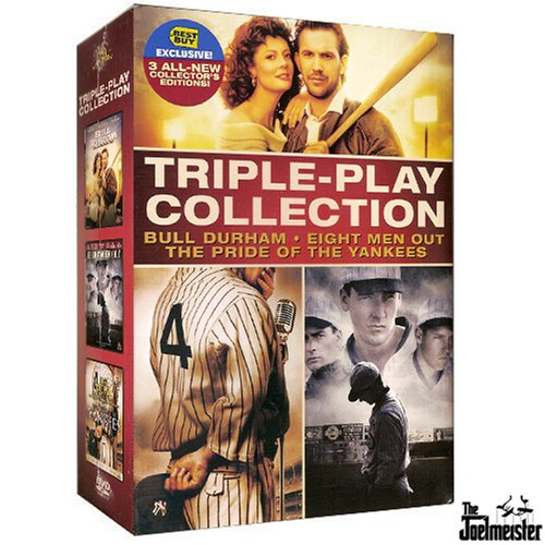 Triple-Play Collection Exclusive Box Set (Bull Durham Collector's Edition, Eight Men Out Collector's Edition, The Pride of the Yankees Collector's Edition)