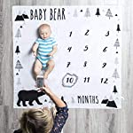 Pondering-Pine-Organic-Baby-Monthly-Milestone-Blanket-Baby-Bear-with-Month-Frame-Prop-for-Newborn-Boy-Soft-Photography-Background-1-to-12-Months