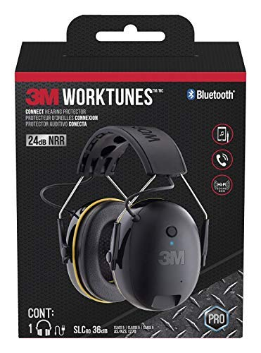 3M WorkTunes Connect Hearing Protector with Bluetooth Technology (Certified Refurbished)