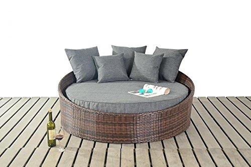 Manhattan braun Rattan Garten Möbel klein Tagesbett