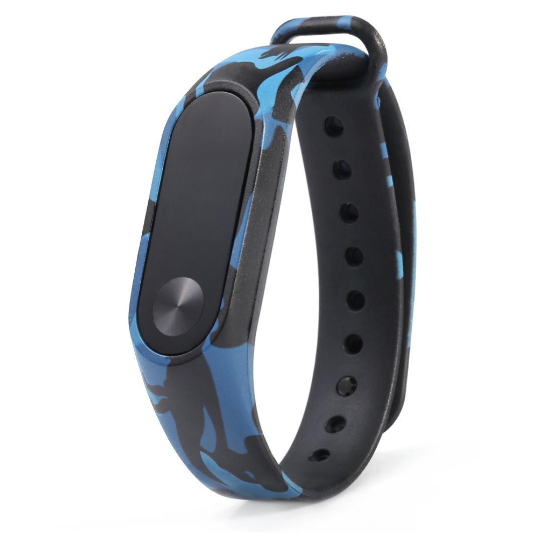 Para XIAOMI MI Band 2, ❤ Manadlian Correa de camuflaje Pulsera Reemplazo de pulsera Para Xiaomi MI Band 2 (A): Amazon.es: Relojes