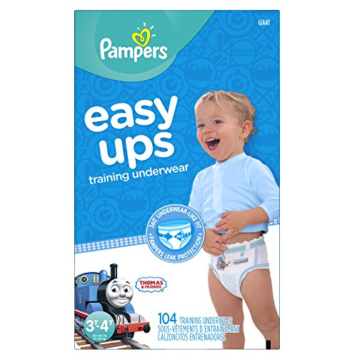 Pampers Easy Ups Training Underwear Boys, Size  3T-4T, 104 Count
