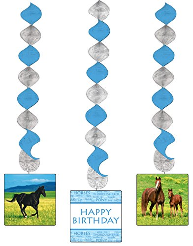Creative Converting Wild Horses 3 Count Dangling Cutouts Hanging Party Decoration ()
