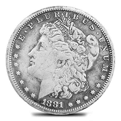 LUYANhapy9 1881 US Old Morgan Commemorative Coin Collectibles Silver Dollar Handmade Crafts Die Casting ()