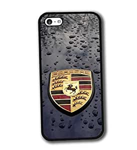 iPhone 5C Funda Carcasa Case Ultra Slim Vintage Printed Colourful Pattern Antipolvo Brands Logo Porsche Tough Hard Plastic Tapa for Girls