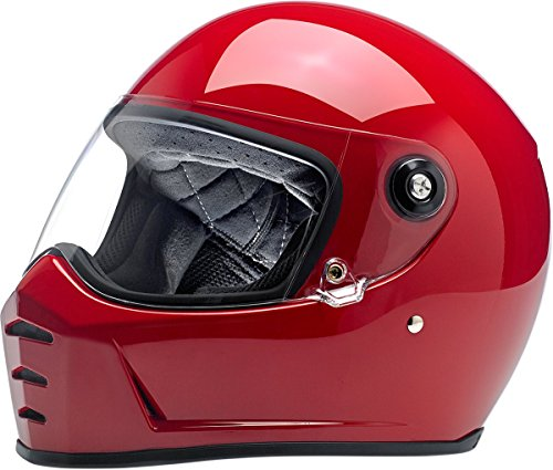 Biltwell Lane Splitter Solid Full-face Motorcycle Helmet - Gloss Blood -