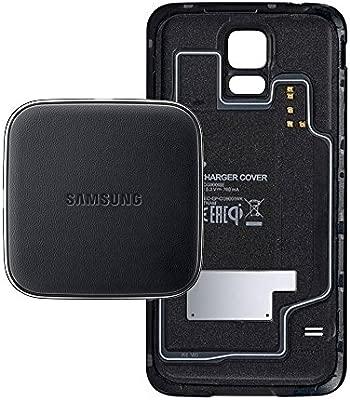 Samsung EP-WG900IBEGWW - Pack de funda S-View y cargador por inducción para Galaxy S5, negro