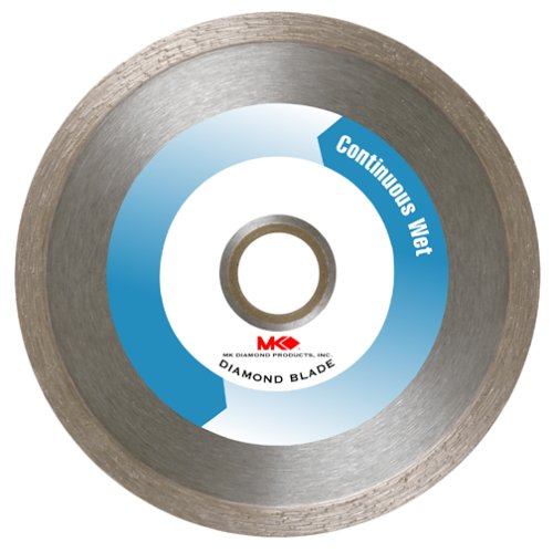 MK Diamond 151445 MK-200 4-Inch Wet Cutting Continuous Rim Diamond Saw Blade with 5/8-Inch Arbor for Tile and Marble
