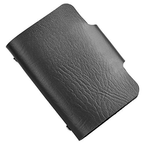 Cartera de embrague-All4you unisex PU cuero 24 tarjetas ranuras mujeres caso ID tarjeta de crédito titular monedero bolsillo (rosa) Negro