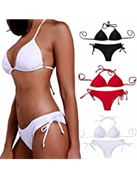 Sexy New Push up Padded Bikini Set For Women Classic Top String Hipster Bottom No Underwire