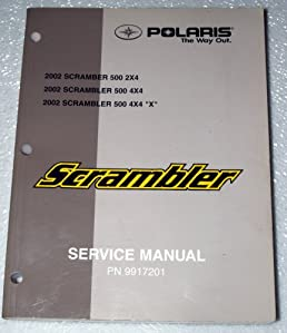 2002 polaris scrambler 500 atv service manual 2x4 4x4 4x4x inc rh amazon com polaris sportsman 500 shop manual polaris sportsman 500 ho repair manual