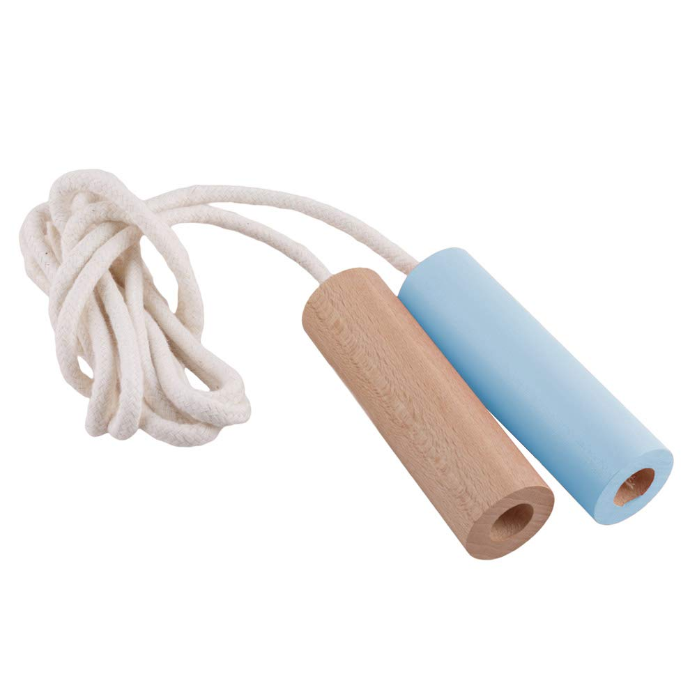 Paulette et Sacha Skipping Rope Green Blue Made in France PESCASBV