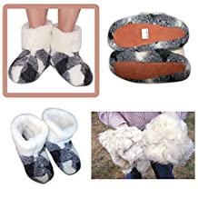 100%✔✔✔ Authentic Women's Size 10 Sheepskin Sheep Wool Slippers White Boots Wool Shoelace Pure Sheep Wool Slippers, New Genuine Felt Merino Boots, Women Us Size 10, Valenki