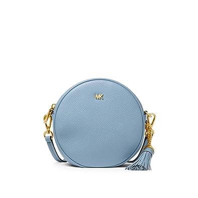 25502da0c232 Women's Accessories Michael Kors Pale Blue Canteen Medium Crossbody Bag  Spring Summer 2018: Amazon.co.uk: Shoes & Bags