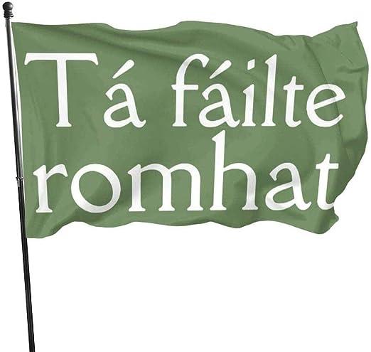 Outdoor Indoor Garden Banner Zeichen Irish Welcome Greeting Wetterbeständige saisonale Yard Flag One Side (3 x 5 ft) |Polyester