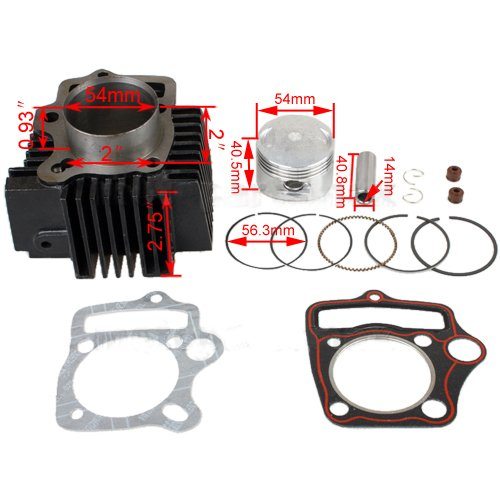X-PRO 54mm Cylinder Kit for 125cc ATVs, Dirt Bike, Go Karts