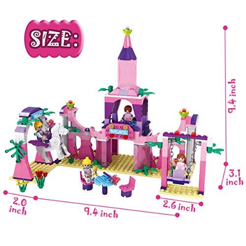 BRICK STORY Castle Building Blocks Set for Girls, Palace Building Bricks for Girls (346PCS)