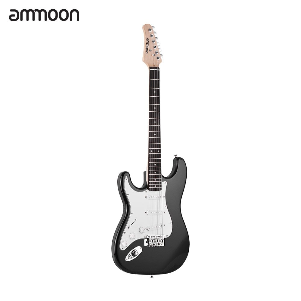 Ammoon Electric Guitar Solid Wood Paulownia Body Maple Neck 21 Frets