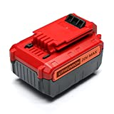 PowerBay - Replace for Porter Cable 20V Max 4.0 Ah Lithium Battery Pack, More than PCC685LP, PCC685L, PCC680L,PCC680LP, PCC682L and More, Red/Gery, 1 Pack