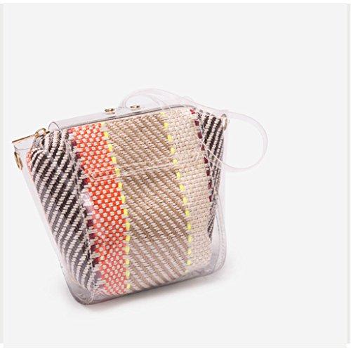 Colore leggera 71lbs borsa estiva 0 da 0 Borsa viaggio 32kg da da piccola donna da A trasparente Borsa Borsa quadrata decorativa A tracolla viaggio Sx1wn6