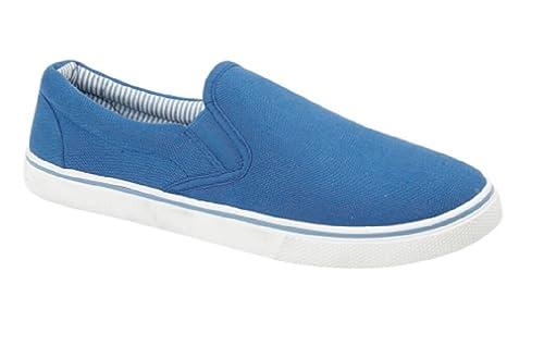 Para hombre antideslizante sobre lienzo zapatos de verano, color Negro, talla 40