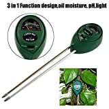 CoCocina 3 in1 PH Garden Soil Tester Professional LCD Temperature Moisture Sunlight Meter