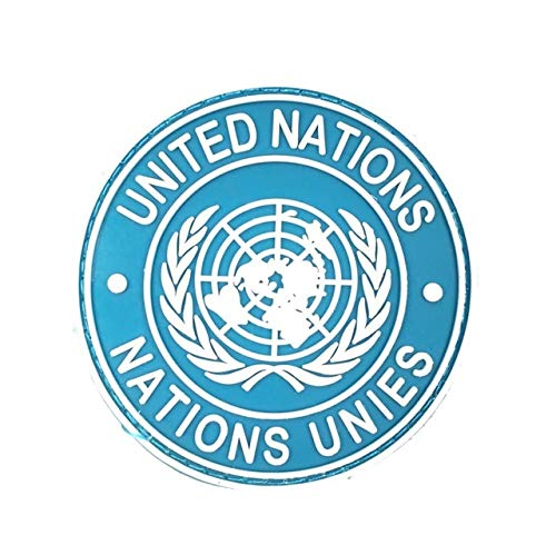Generic gomma Bandiera delle Nazioni Unite Patch 3d pvc Tactical Nazioni Unite Badge gancio militare fascia da braccio fascia da braccio da combattimento armã © e emblã ¨ me: Argento antico